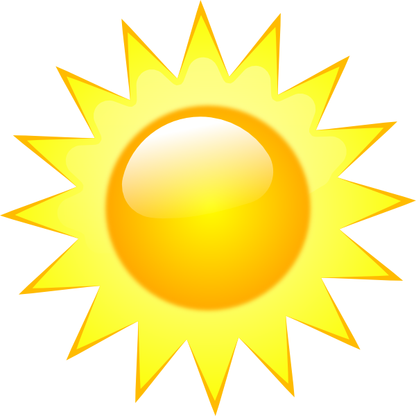 Wednesday clipart sunny. Weather symbols clip art