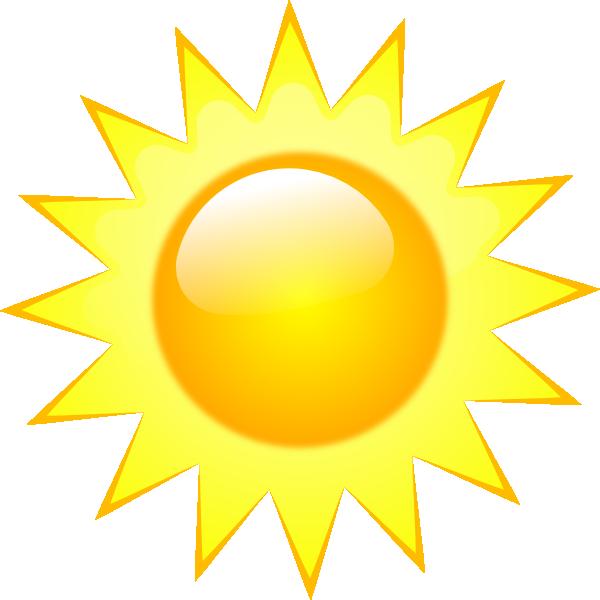 Sunny clipart sign. Weather symbols clip art