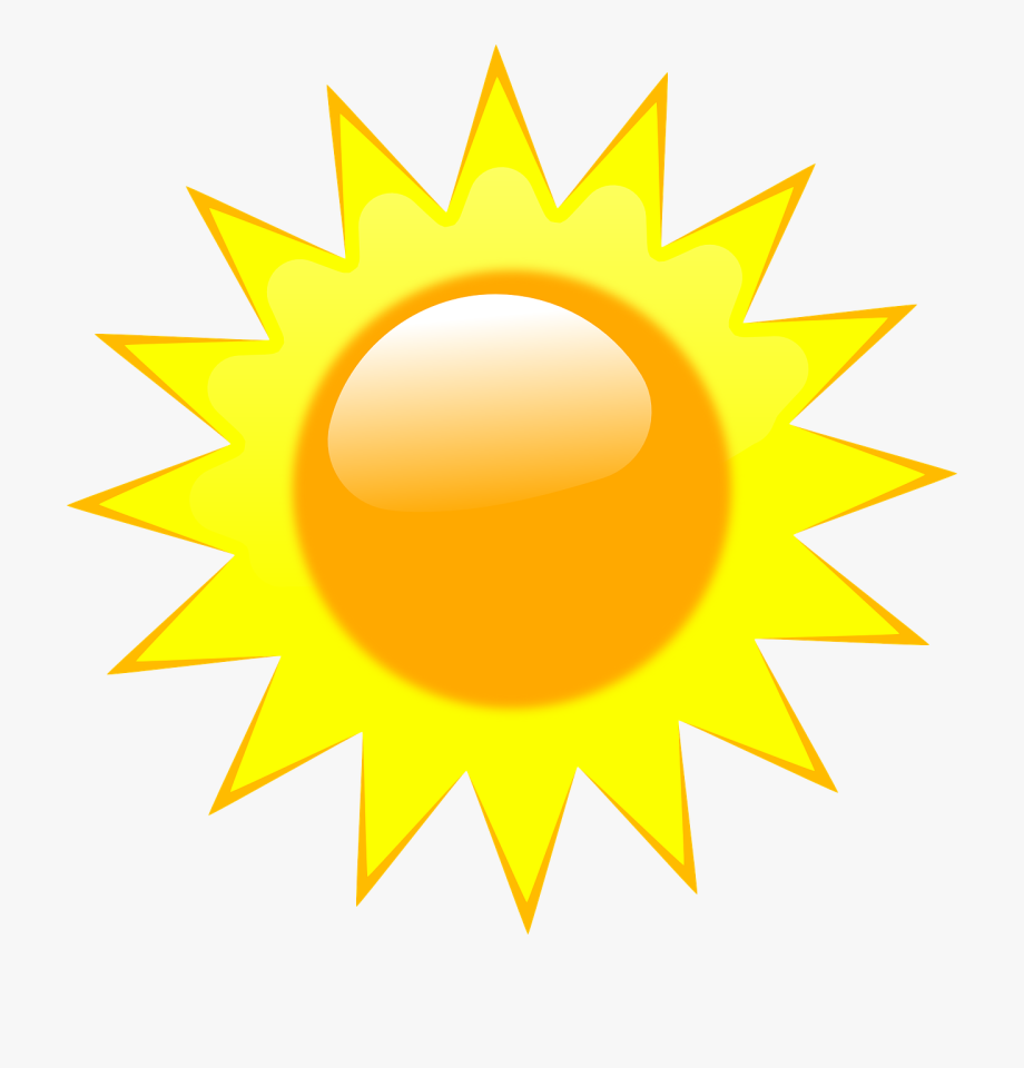 Cloudy clipart weather forecast. Sun rays light summer