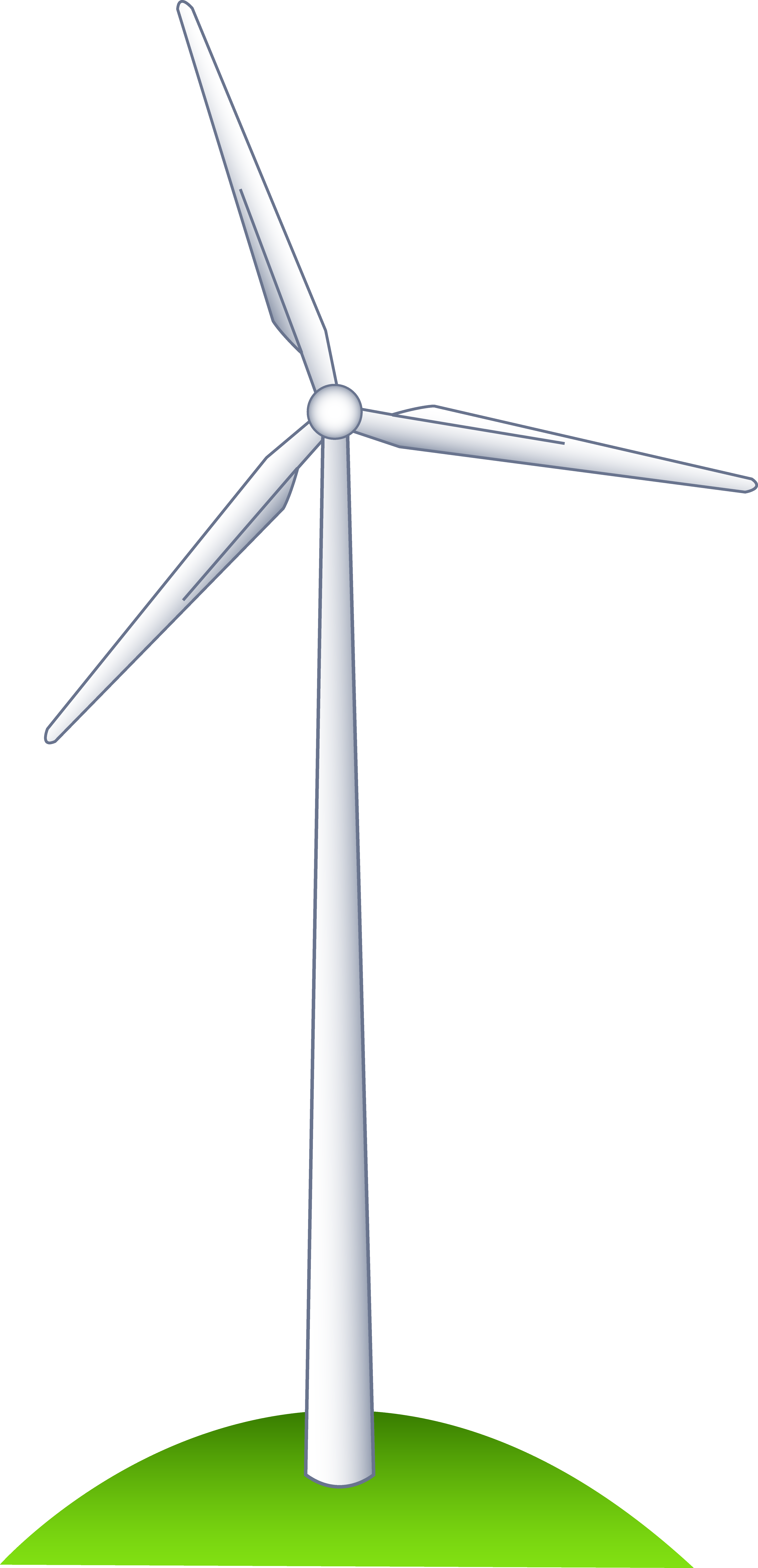 Wind turbine on a. Windy clipart drawing