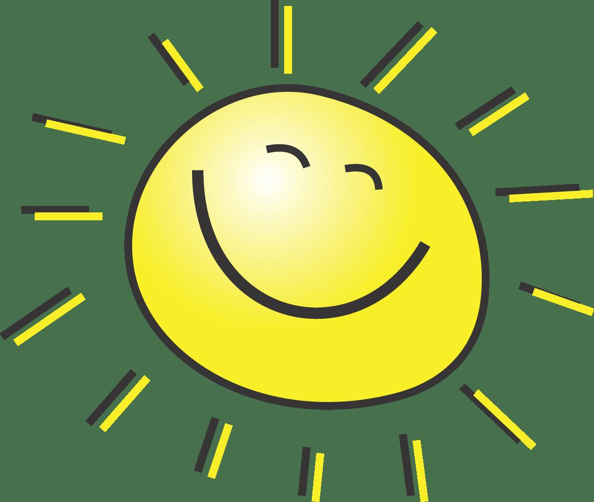 free summer illustration. Clipart sun yellow