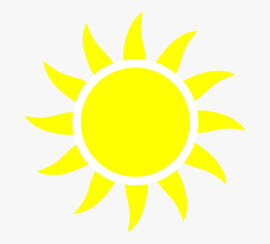 Clipart sun yellow. Half of a computer