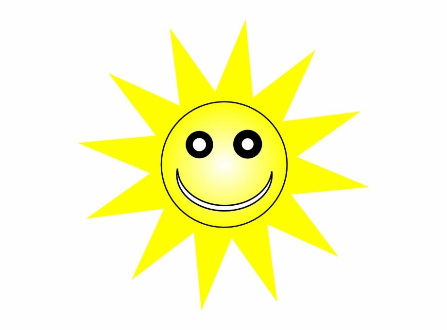 Clipart sun yellow. Happy smiley clip art