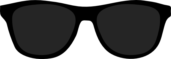 Black panda free images. Sunglasses clipart