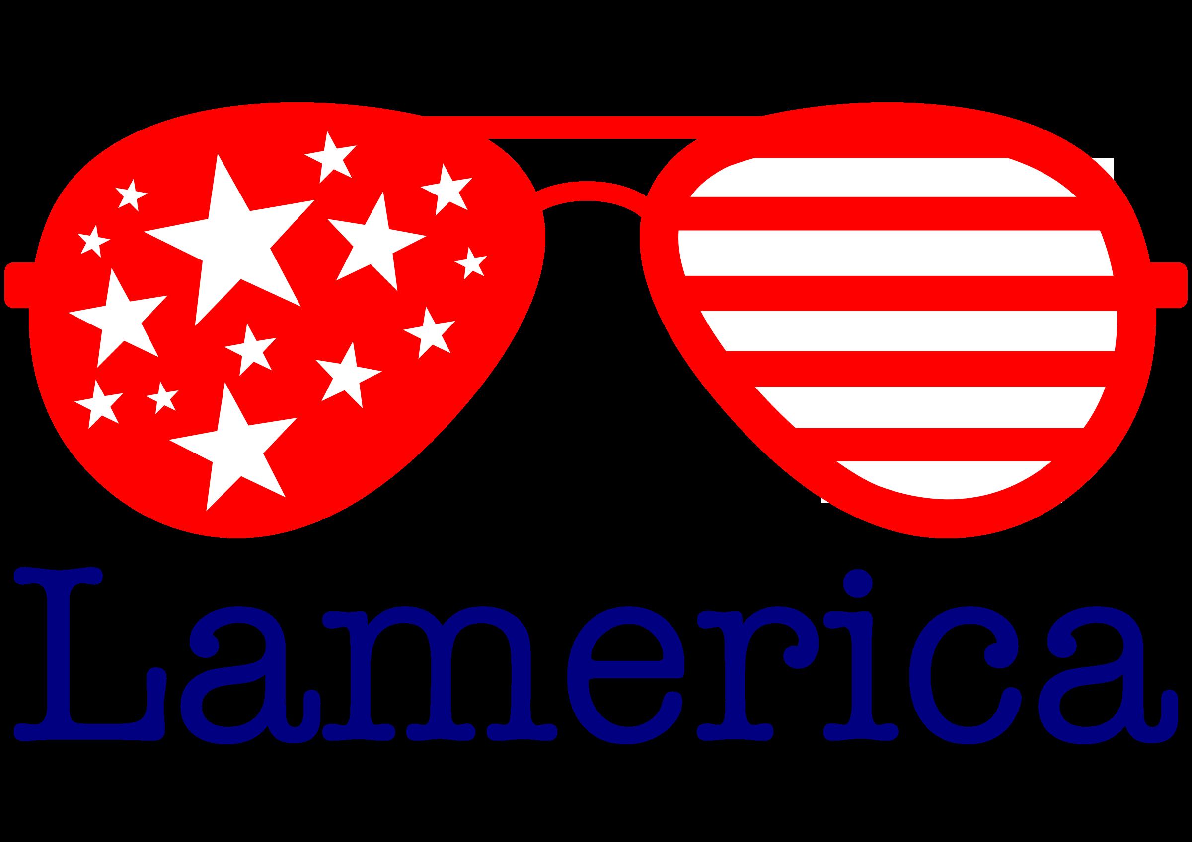 Flag clipart sunglasses. Lamerica big image png