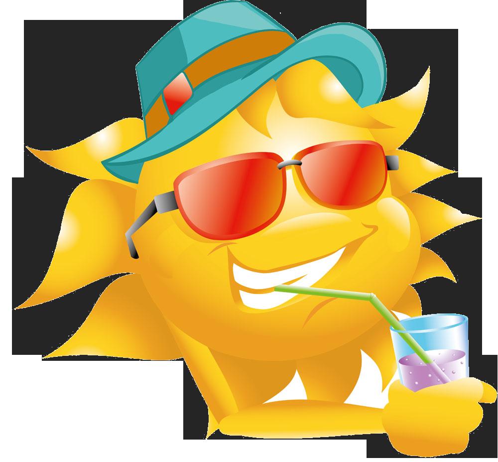 Sunglasses clipart beach hat. Sun straw clip art