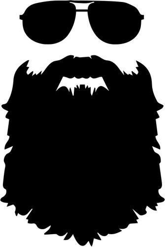 Vinyl decal sticker bumper. Clipart sunglasses beard