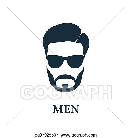 Clip art vector men. Clipart sunglasses beard style