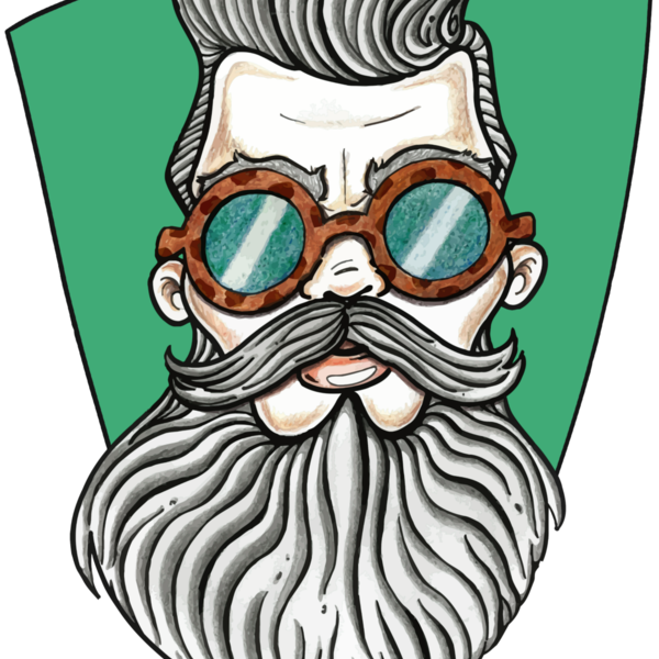 Con fondo unisex t. Sunglasses clipart bearded man