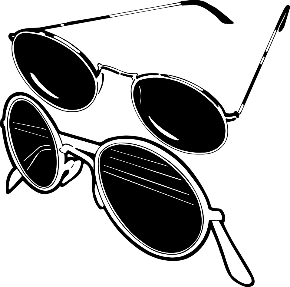 Free stock photo illustration. Sunglasses clipart small