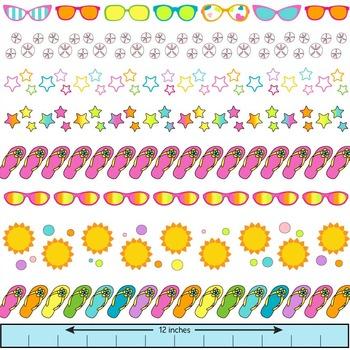 Sunglasses clipart border. Summer clip art borders