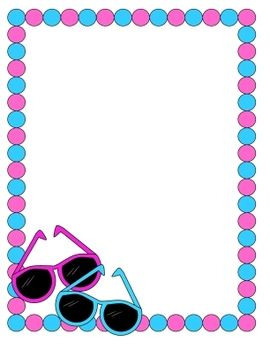 Free tpt collections cute. Sunglasses clipart border