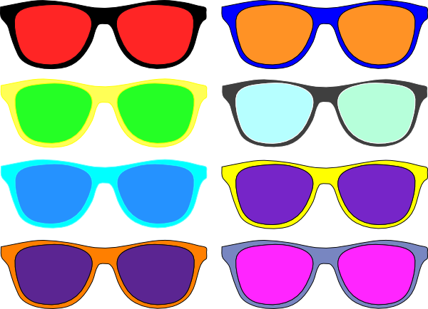 Clipart sunglasses colored. Colorful clip art at