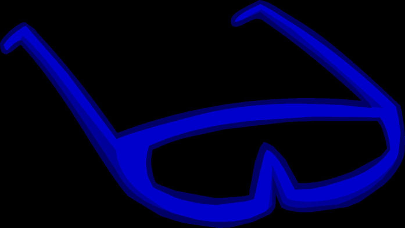 Blue club penguin rewritten. Clipart sunglasses diva