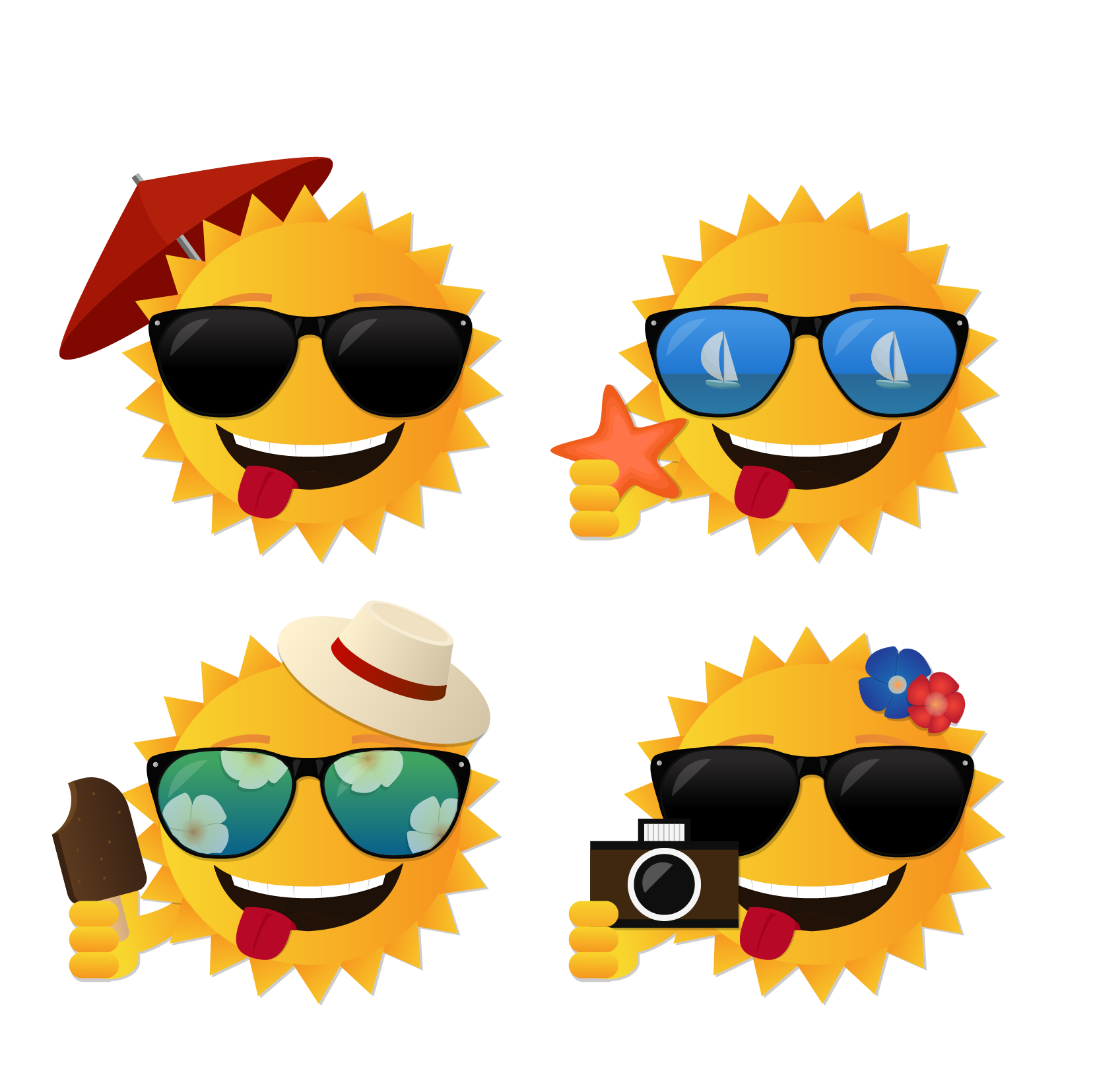 Sunglasses clipart emoticon. Summer vector sun transprent