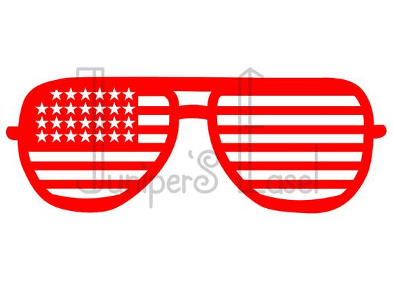 Clipart sunglasses fourth july. American flag svg aviator