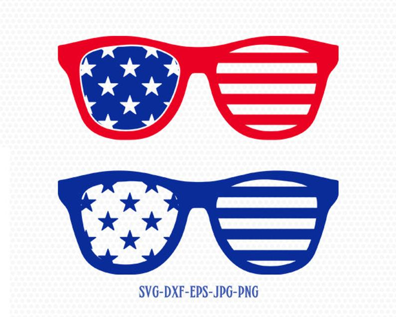 Usa america svg of. Clipart sunglasses fourth july