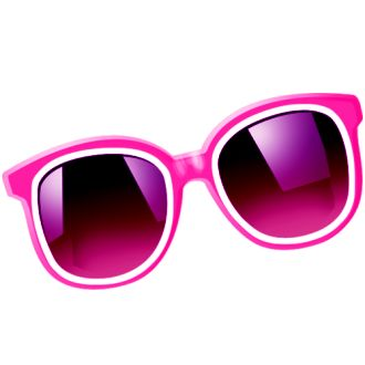 Clipart sunglasses girly. Pink free download best