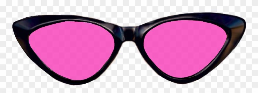 Pink glasses sun cat. Clipart sunglasses glass tumblr