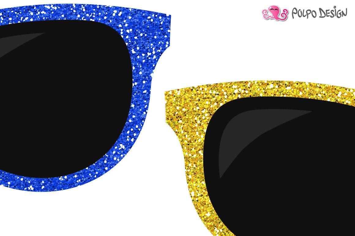 Colorful by polpo design. Sunglasses clipart glitter