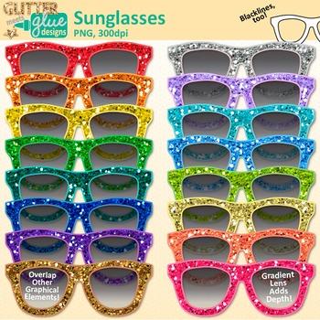 Clip art summer graphics. Sunglasses clipart glitter