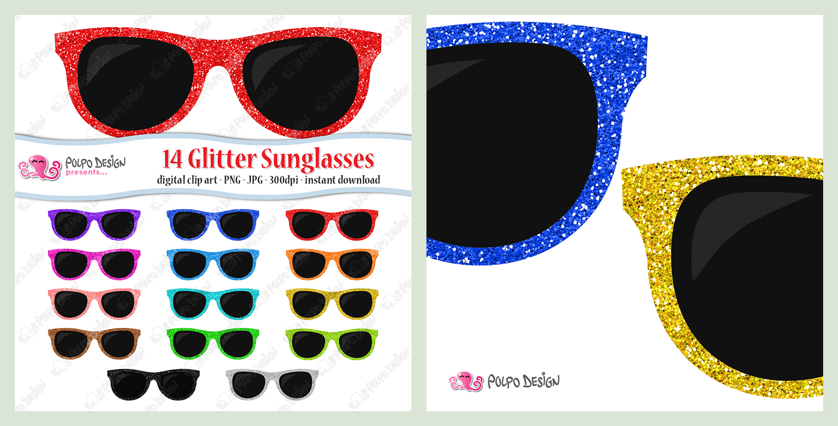 Sunglasses clipart glitter. Colorful by polpodesign on
