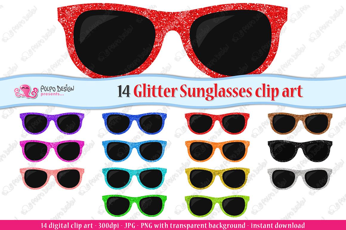 Sunglasses clipart glitter. Colorful clip art
