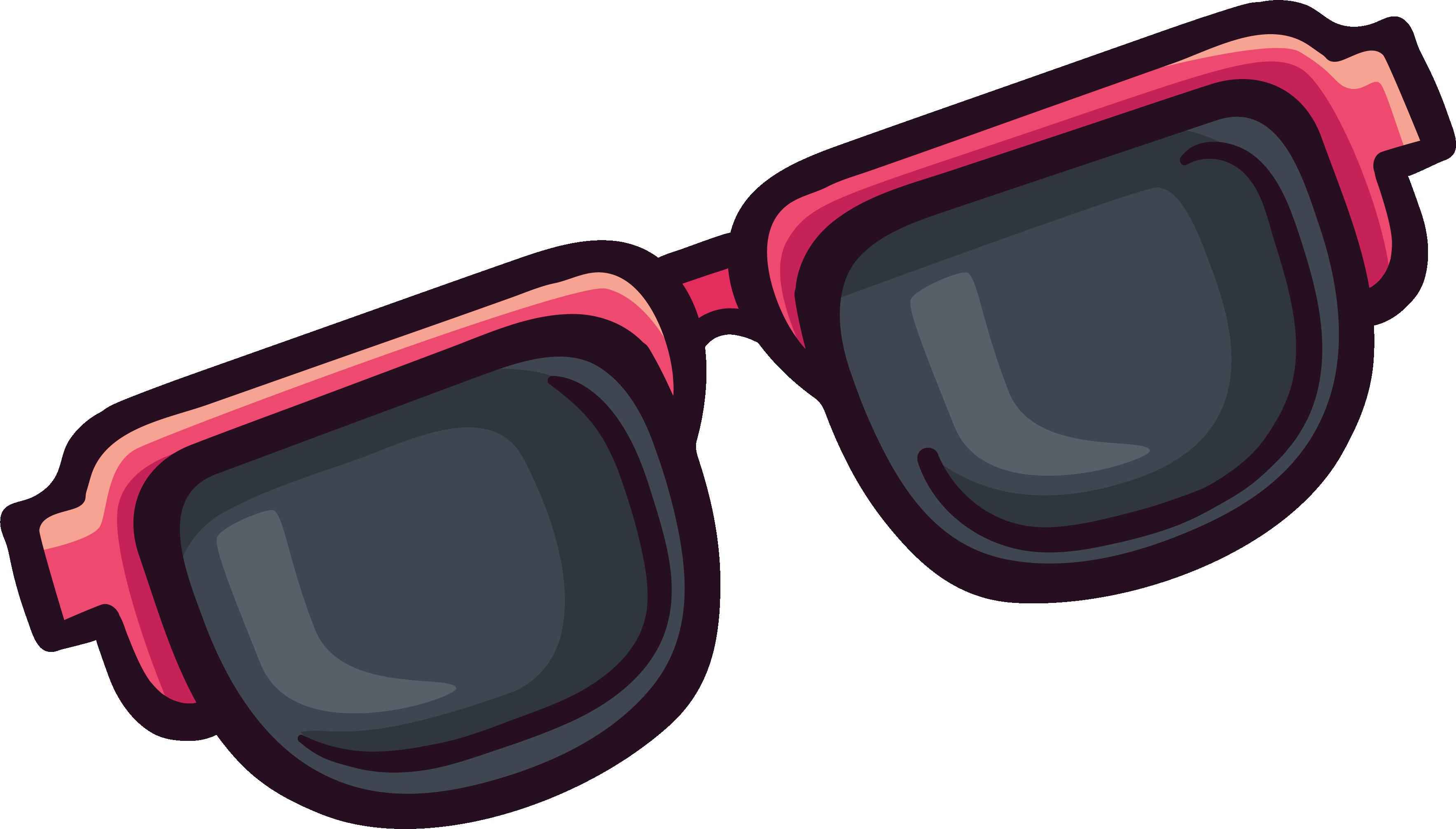 Sunglasses clipart purple. Goggles sticker clip art