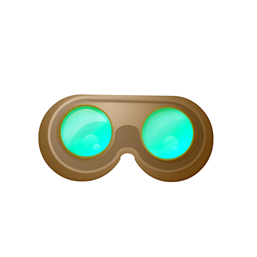 Steampunk clipart copyright free. One shot goggles by