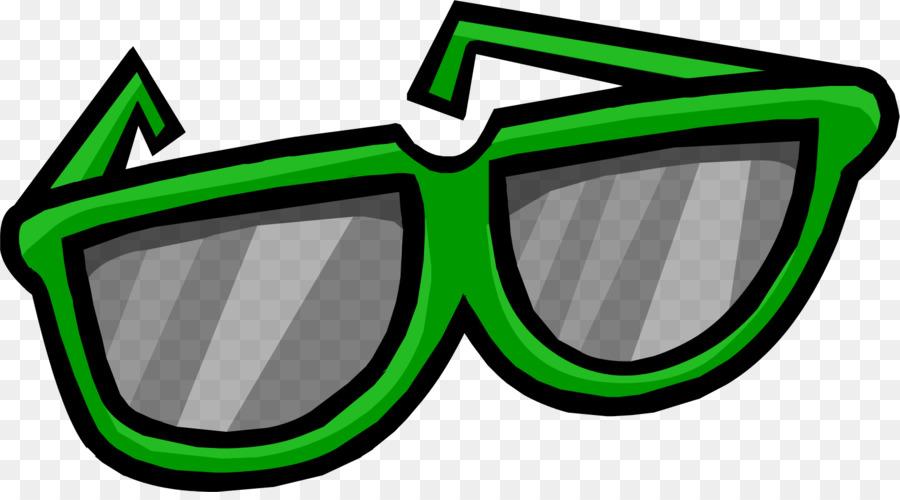 Penguin clipart sunglasses. Green glasses