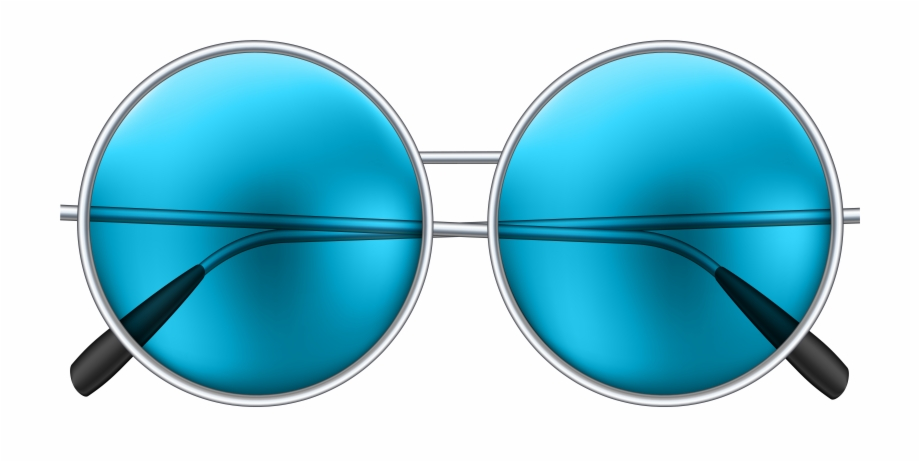 Round blue png clip. Clipart sunglasses hippie