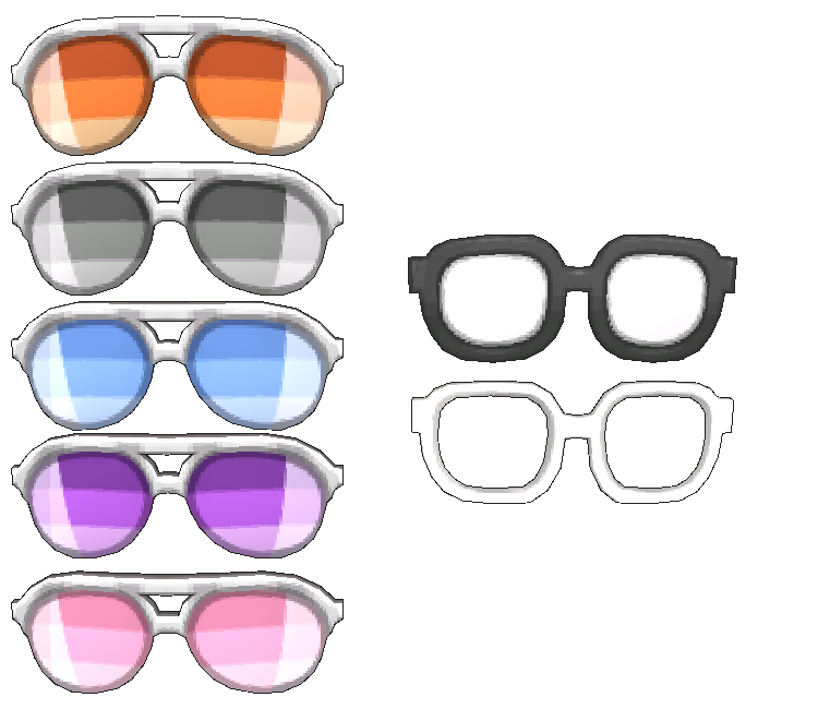 Sunglasses clipart horn rimmed glass.  ds pok mon