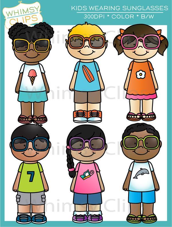 Clipart sunglasses kid. Kids wearing clip art