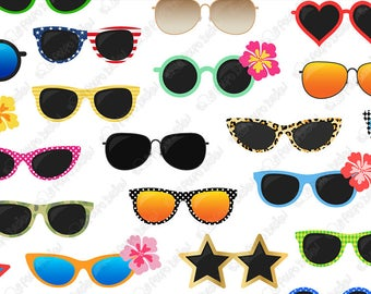 Sunglasses etsy . Eyeglasses clipart shades