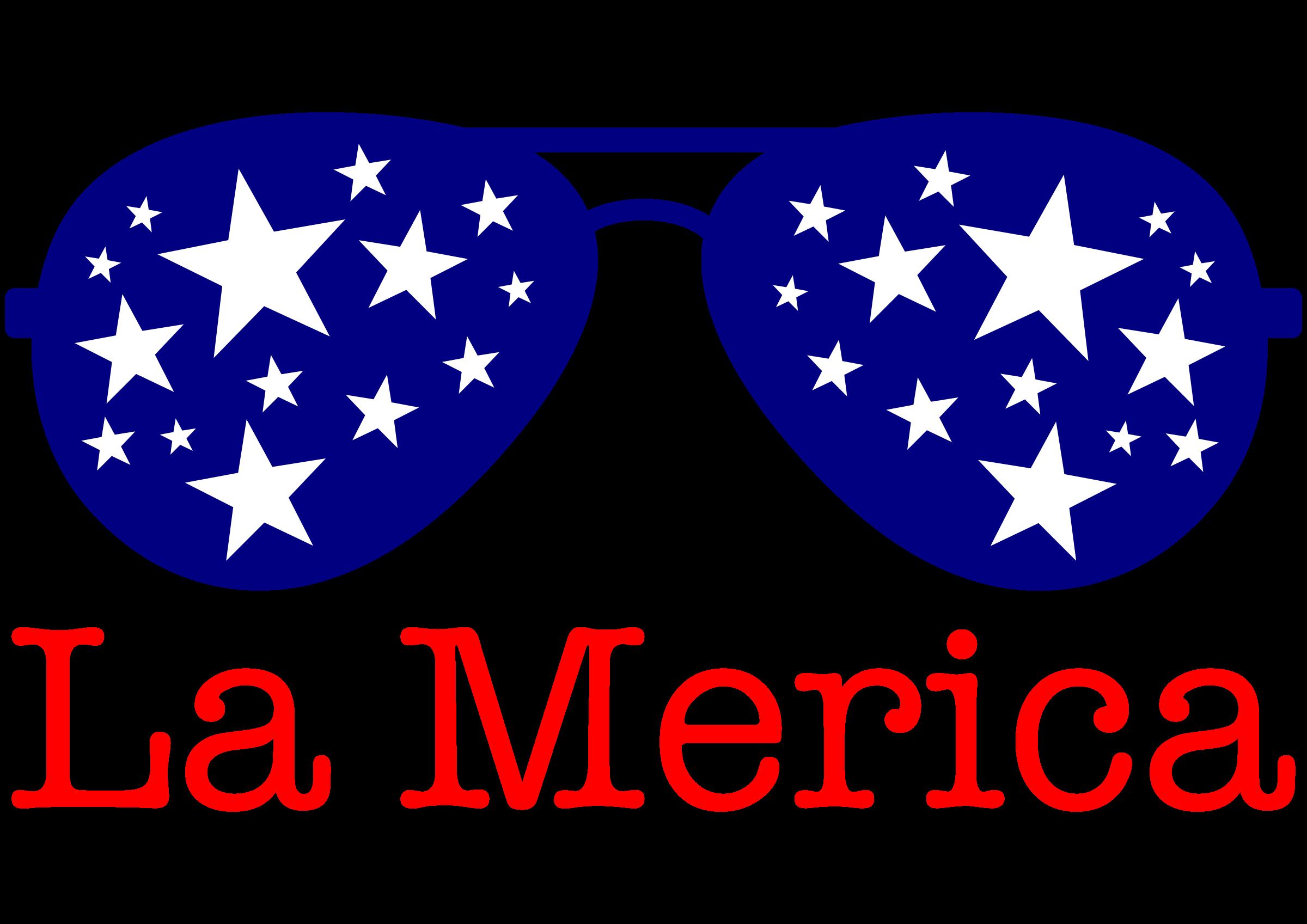 Lamerica big image png. Clipart sunglasses merica