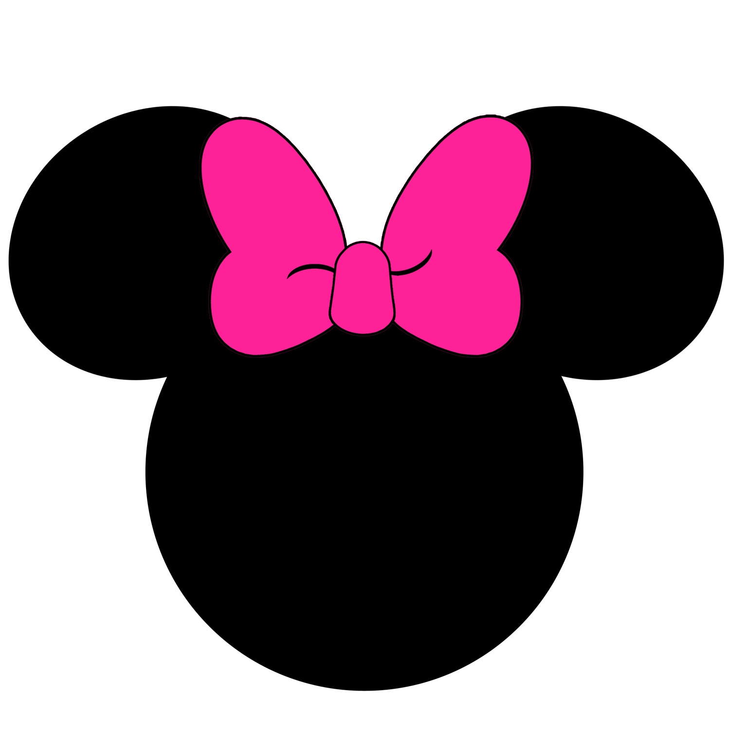 Ears clipart silhouette. Mickey at getdrawings com