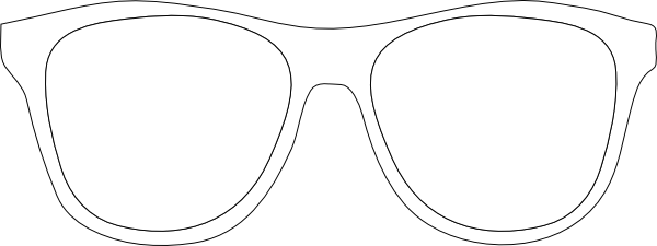 Printable glasses template black. Eyeglasses clipart outline