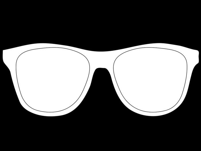 Clipart sunglasses outline, Clipart sunglasses outline ...