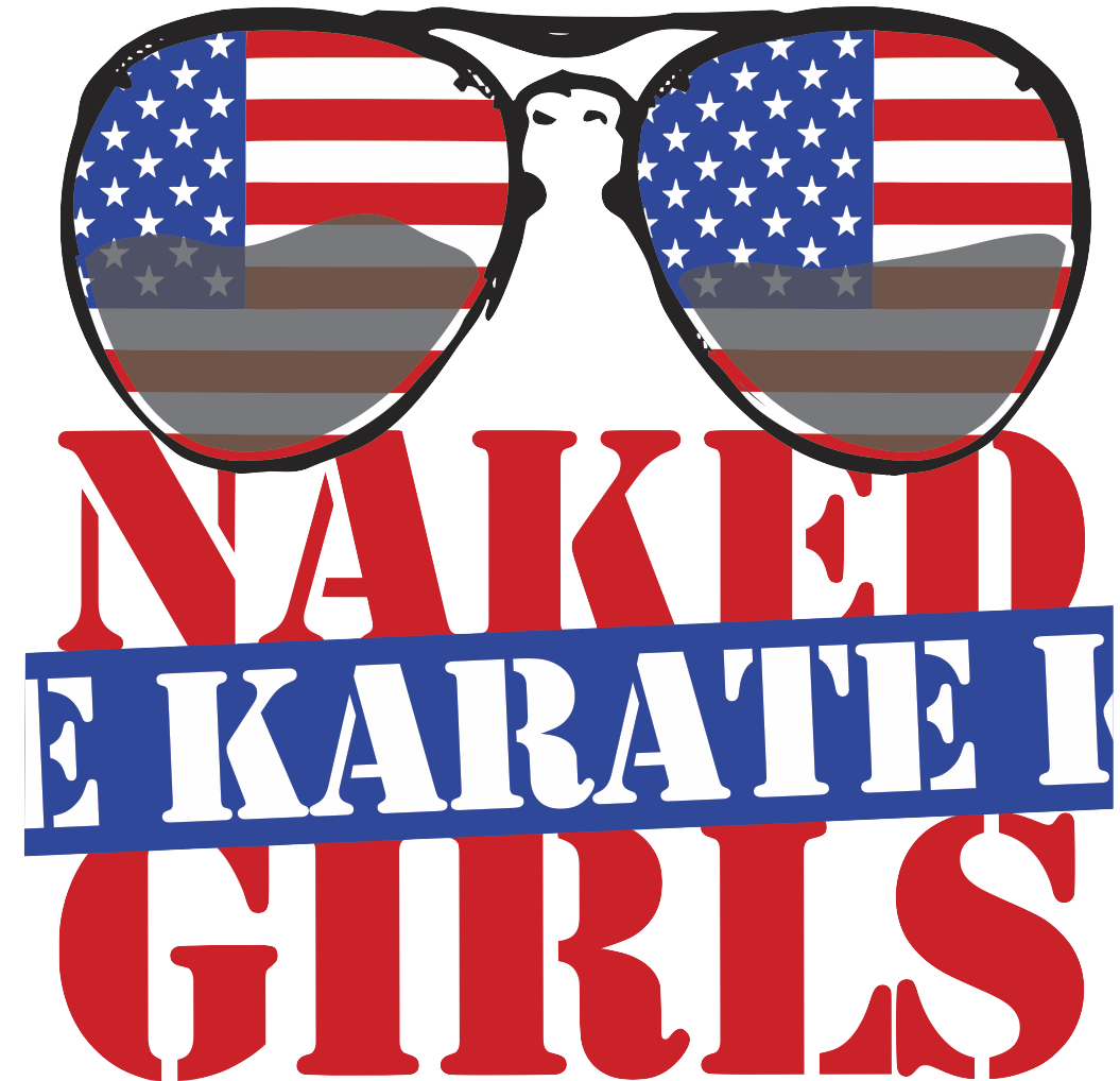 Naked karate girls rockin. Sunglasses clipart patriotic