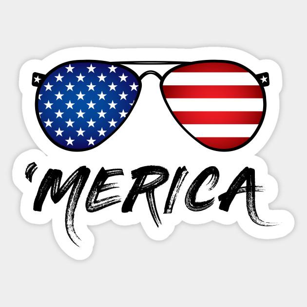 Sunglasses clipart patriotic. Usa flag merica