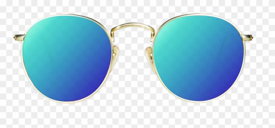 Blue png sun glass. Clipart sunglasses picsart hd