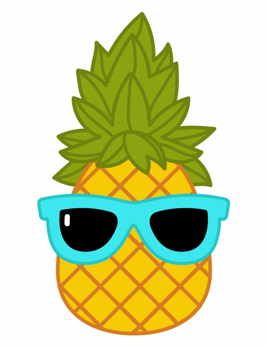 Pineapple clipart sunglasses. With png clip art