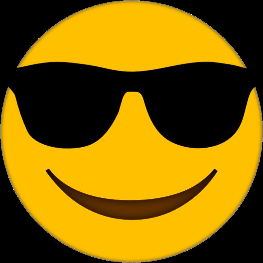 Emoji uma . Clipart sunglasses printable