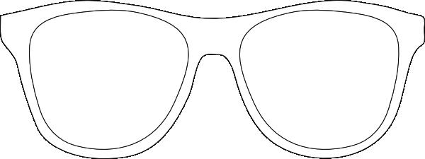 Black and white sunglass. Clipart sunglasses printable