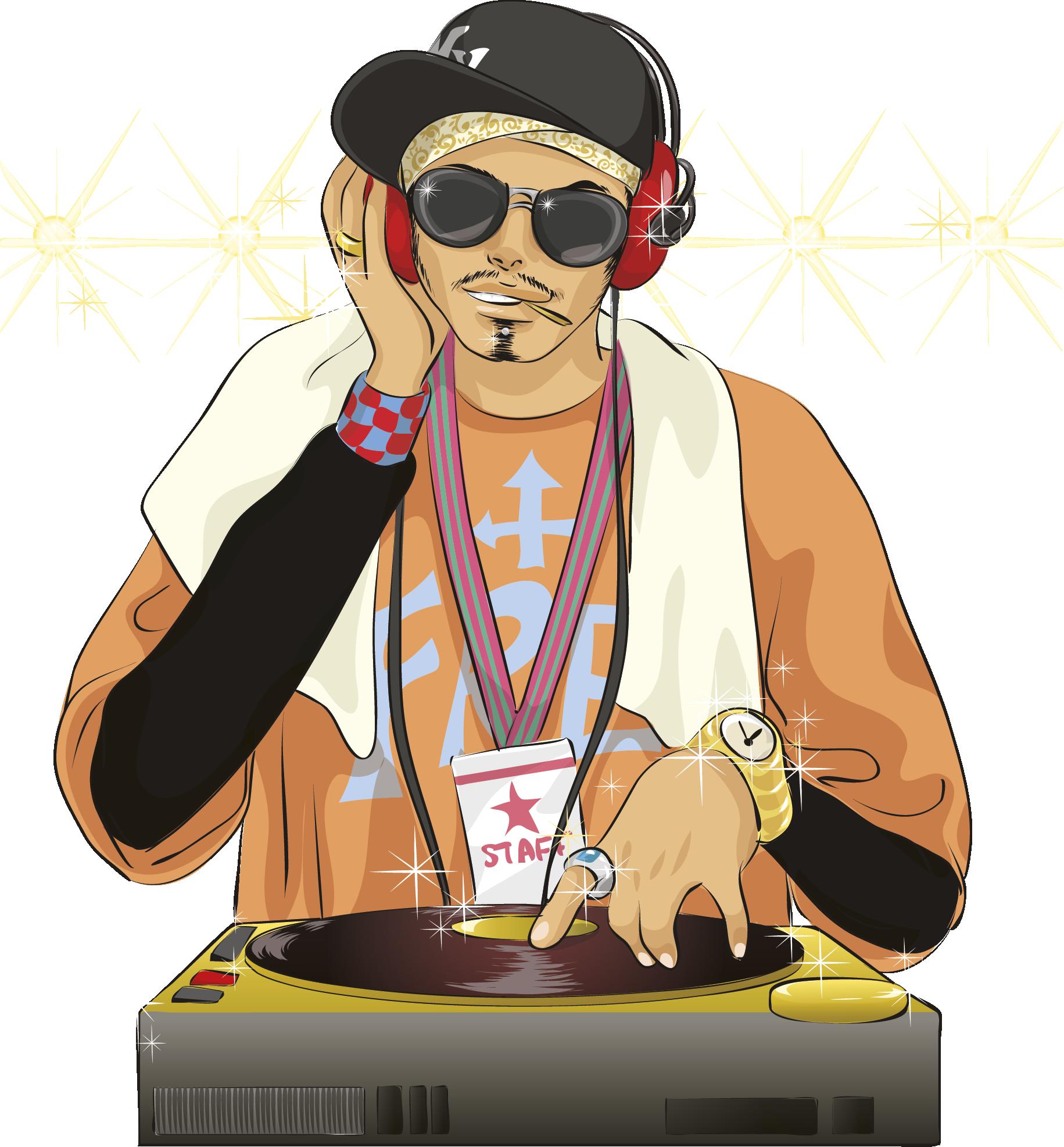 Clipart sunglasses rapper. Hip hop music disc