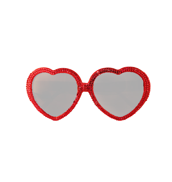 clipart sunglasses red heart