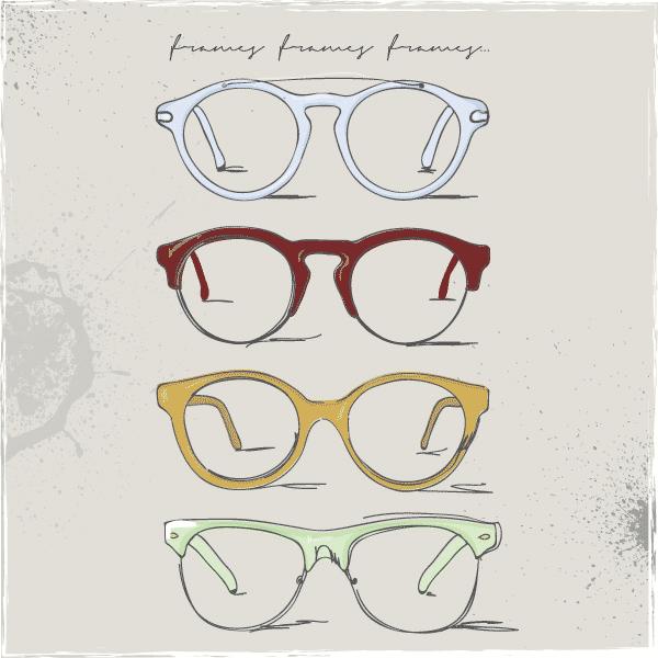 Eyeglasses clipart stylish glass. Retro glasses eye free