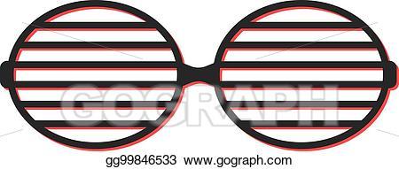 Sunglasses clipart simple. Vector stock shutter icon