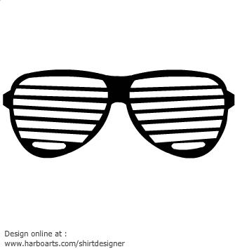 Shutter image . Sunglasses clipart striped