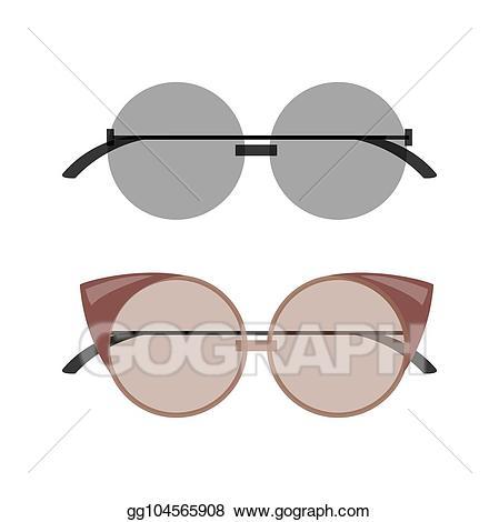 Sunglasses clipart stylish. Vector art female round